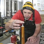 Brewmaster Rod Daigle works in the Brimstone Brewing Company's brewery in the basement of the Sanctuary Centre for the Arts in Ridgeway.