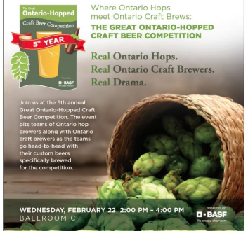 "Hops a ""hop"" topic Wednesday at the fruit and vegetable growers convention in Niagara Falls, ON Wed., Feb. 22, 2017."