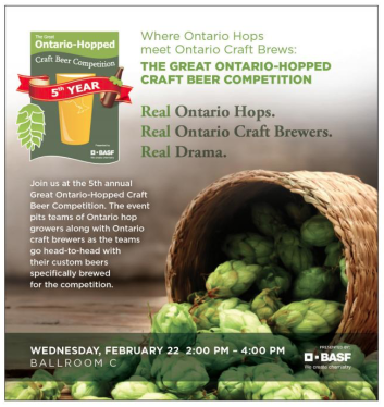 """Hops a """"hop"""" topic Wednesday at the fruit and vegetable growers convention in Niagara Falls, ON Wed., Feb. 22, 2017."""